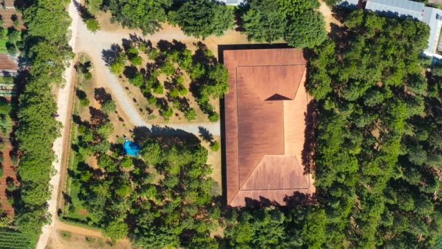 vietnam, lam dong - ka don church in the central highlands province of lam dong has won second prize at the 6th international prize for sacred architecture for christian religious buildings worldwide - 4k high quality, aerial view. - place of worship stock videos & royalty-free footage