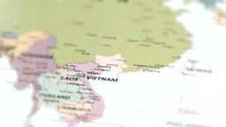 ASIA Vietnam on World Map