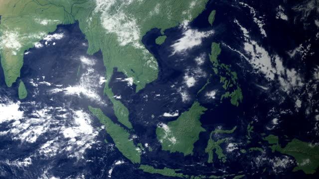 ベトナムが現れた後、大地をズーム(アルファマット) - ベトナム点の映像素材/bロール