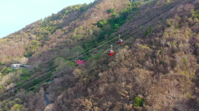 vietnam, vung tau city at the doppel mayer cable car aerial view. - south vietnam stock videos & royalty-free footage