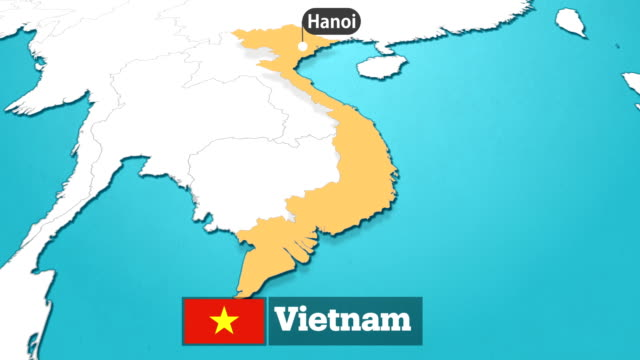 vietnamese  map with flag - traditionally vietnamese stock videos & royalty-free footage