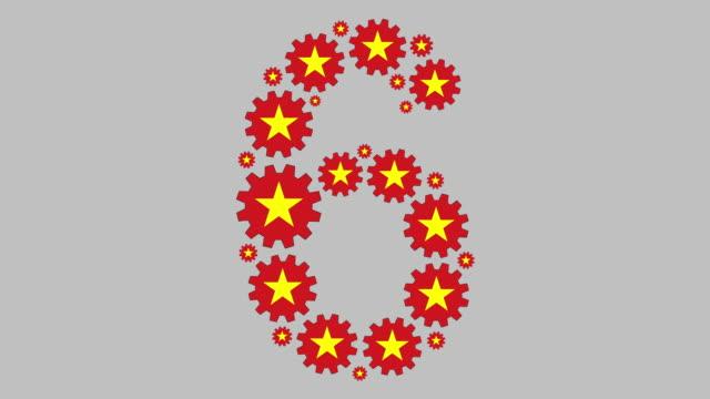 vidéos et rushes de numéro vietnamien six - chiffre 6