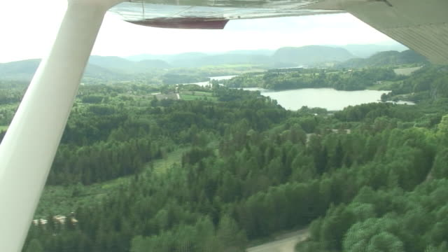 vieu from a small plane - telemark stock videos and b-roll footage