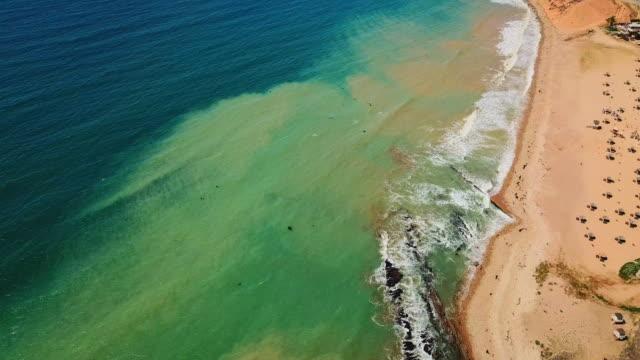 view above the palos verdes coastline and beach - huelva province stock videos & royalty-free footage