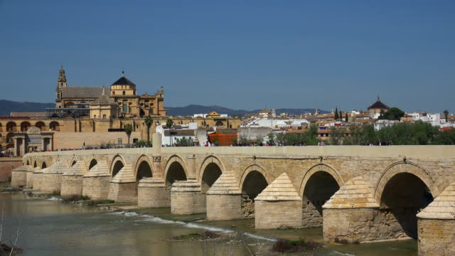View across Guadalquivir River towards Mezquita Cathedral in Cordoba, Andalusia1
