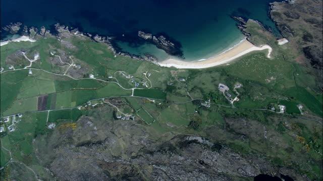 ビューをリー swilly -航空写真-アルスター、ドニゴール、アイルランド - アルスター州点の映像素材/bロール