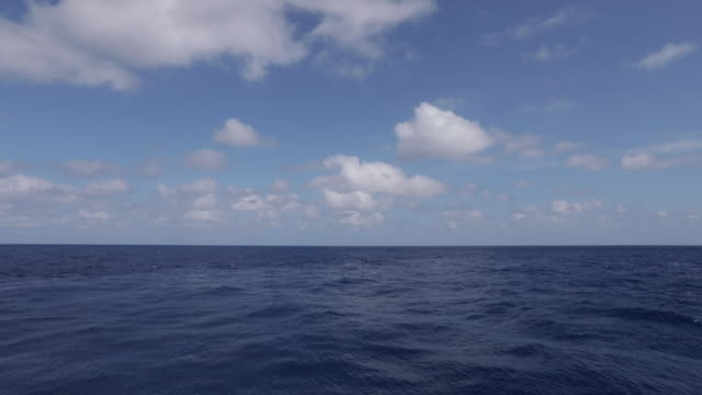 view across open ocean from moving boat - boat point of view stock videos & royalty-free footage