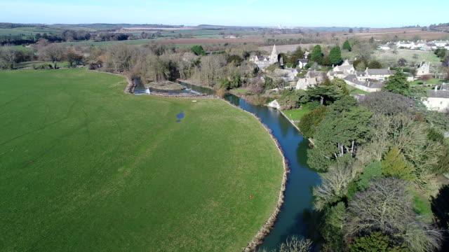 View along the River Welland at Duddington village,