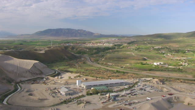 ws aerial view approaching nsa utah data center / utah, united states - national security agency usa stock videos and b-roll footage