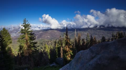 view around boulder into kings canyon - time lapse - sequoia stock videos & royalty-free footage