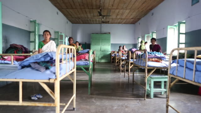 View at a group bedroom for patients in a hospital The hospice is located in the northeast of India near the city of Bagdogra Leprosy tuberculosis...