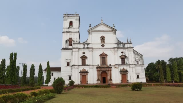 View at the entrance of the Cathedral of Goa