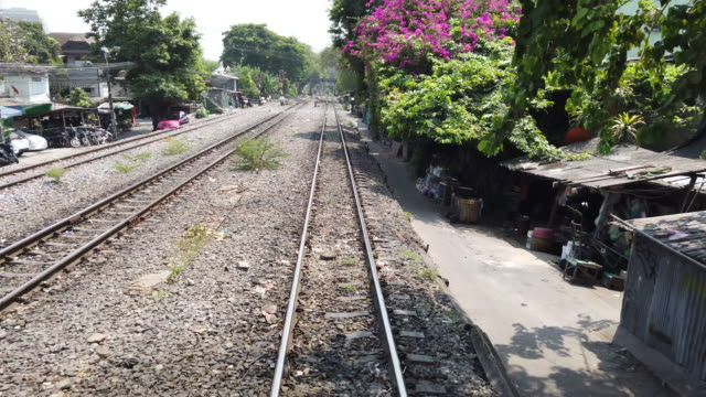 view at the rails of running away train - continuity stock videos & royalty-free footage