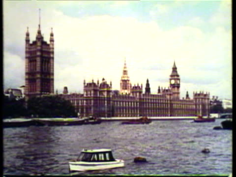 1953 ws view big ben and british parliament / london, uk / audio - 1953 stock videos & royalty-free footage