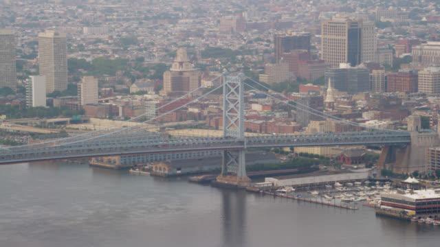 'WS AERIAL ZO View Brooklyn Bridge / New York City, United States'