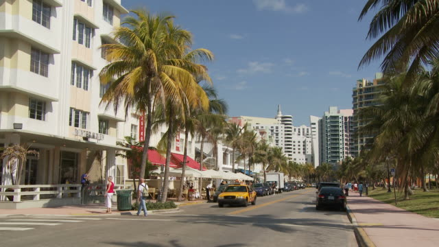 View buildings in art deco district USA