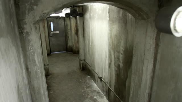 HA View down concrete hallway in bunker / Vancouver, British Columbia, Canada