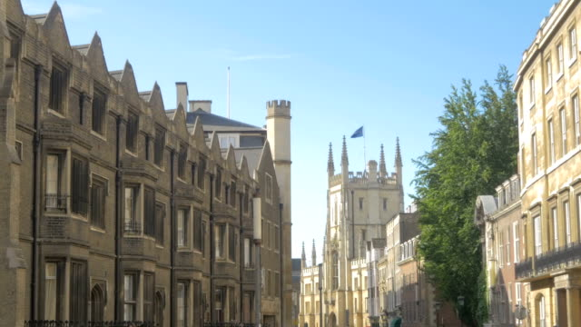 view down trinity street,cambridge,zo - cambridge england stock videos and b-roll footage
