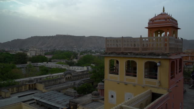 a view form the rooftop on the hawa mahal. - mughal empire stock videos and b-roll footage