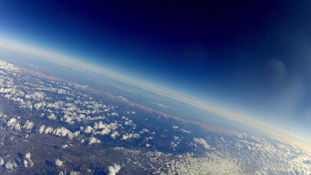 view from a balloon high up in the earth's atmosphere - solar system stock videos & royalty-free footage