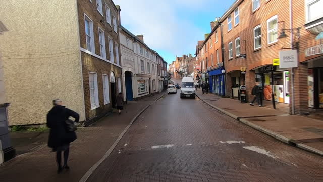 view from a car driving down a street in tring - point of view stock videos & royalty-free footage