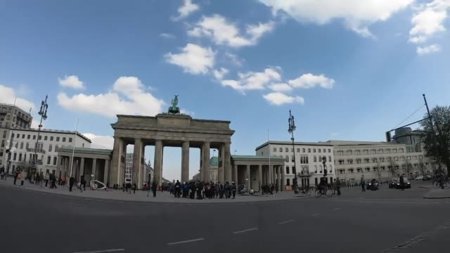 """view from a car driving through berlin germany - """"bbc news"""" stock-videos und b-roll-filmmaterial"""