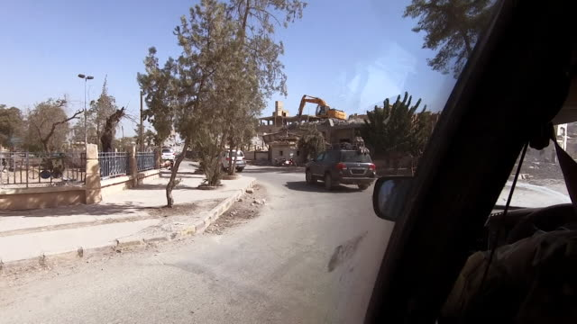 View from a car of Raqqa Syria