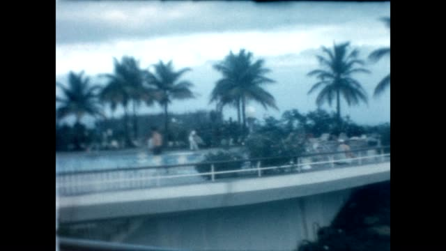 vidéos et rushes de view from a hotel in puerto rico from a home movie reel - porto rico