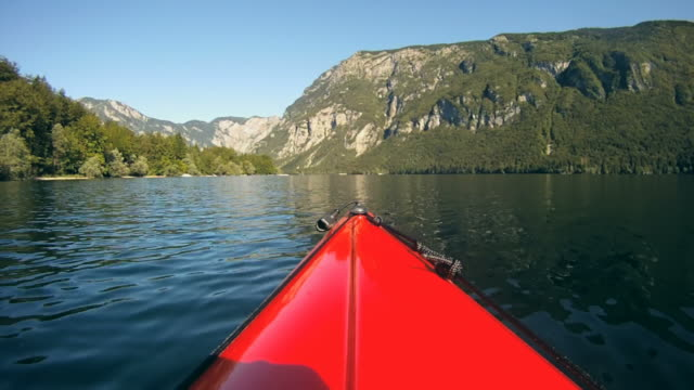 hd: view from a kayak. - using a paddle stock videos & royalty-free footage