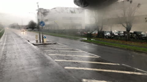 vídeos y material grabado en eventos de stock de view from a lorry driving across the irish border - material de construcción