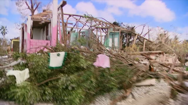 view from a motorbike of devastation caused by hurricane matthew in portsalut haiti - haiti stock videos & royalty-free footage
