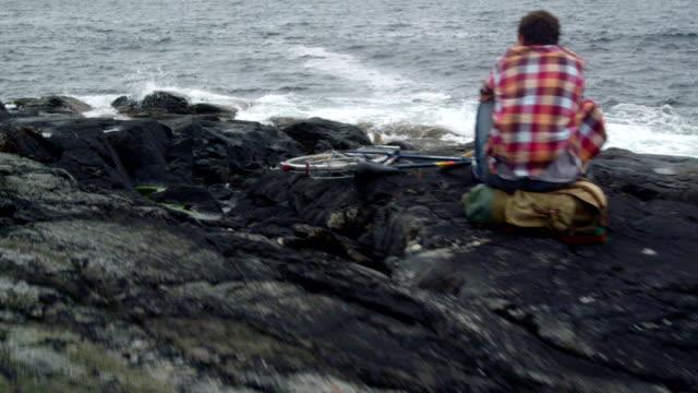 Blick von einer felsigen Küste