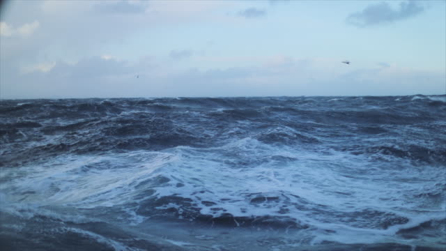 view from a sailing boat of a rough stormy sea: in the ocean during a gale - ecosystem stock videos & royalty-free footage