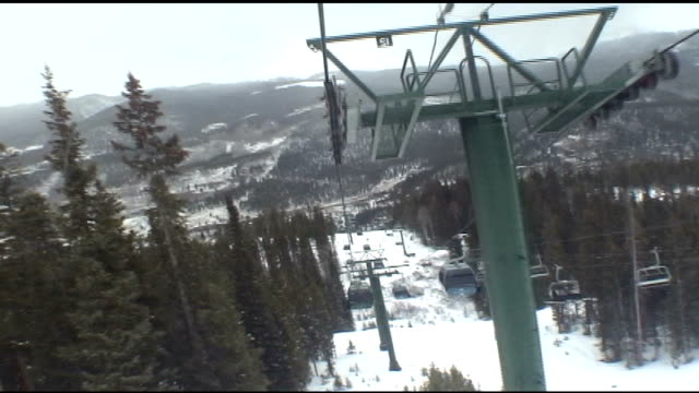 view from a ski lift in keystone, colorado - 2004 stock videos & royalty-free footage