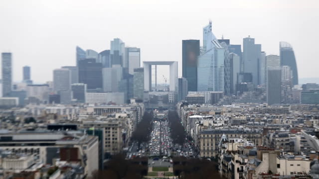 view from a survey platform on arc de triomphe - tourism stock videos & royalty-free footage