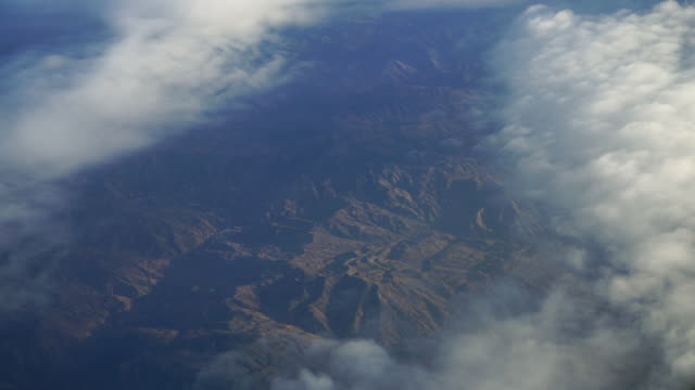 view from airplane to see the northern morocco - hd format stock videos & royalty-free footage