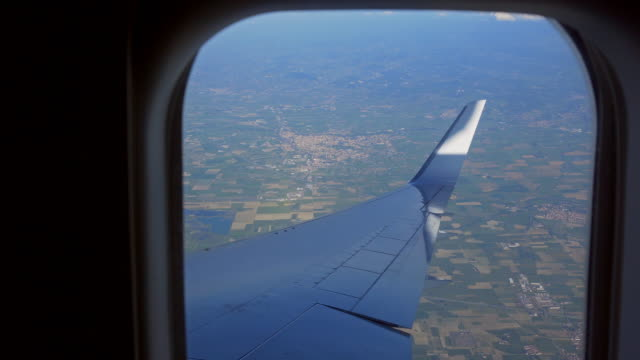 view from airplanes window during the flight - private jet stock videos & royalty-free footage