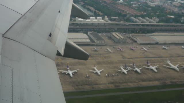 view from airplane's window