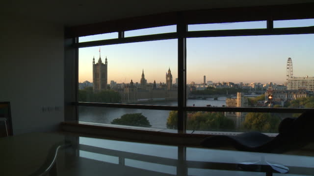 ZI View from apartment to Houses of Parliament Westminster
