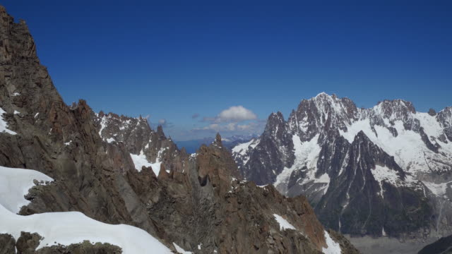 view from cablecar of mont blanc panoramic - mont blanc stock videos & royalty-free footage