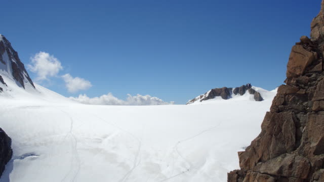 view from cablecar of Mont Blanc panoramic