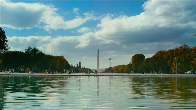 View from Capitol Reflecting Pool to Washington Monument, Washington DC