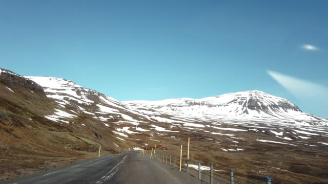 view from car of beautiful icelandic landscape - mountain road stock videos & royalty-free footage