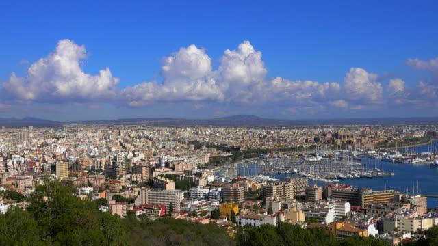 View from Castillo de Bellver across Palma de Mallorca, Majorca, Balearic Islands, Spain