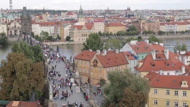 View from Charles Bridge, Prague, Czech Republic, Europe