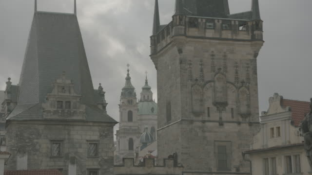 view from charles bridge - charles bridge stock videos & royalty-free footage