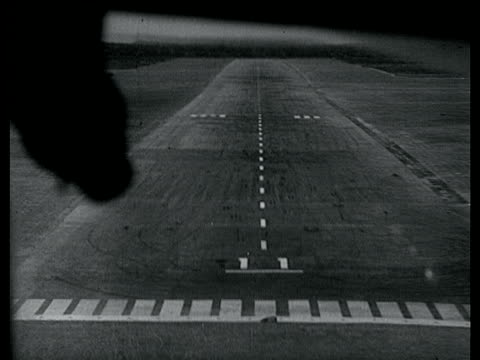 view from cockpit of boac's 'comet' the world's first regularly scheduled airline of approaching runway when coming into land 1952 - 1952 stock videos & royalty-free footage