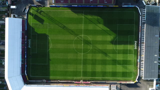 view from directly above grimsby town fc's blundell park ground - directly above stock videos & royalty-free footage