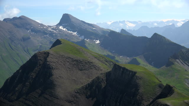 view from faulhorn to bernese alps, grindelwald, bernese alps, switzerland - bernese alps stock videos & royalty-free footage