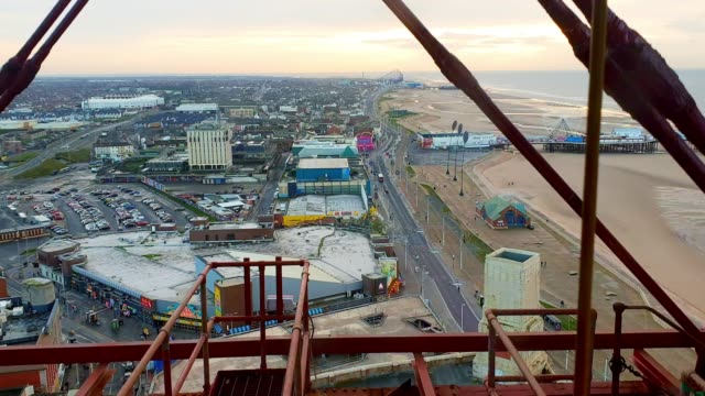 view from high angle view from blackpool tower, blackpool - blackpool stock videos & royalty-free footage